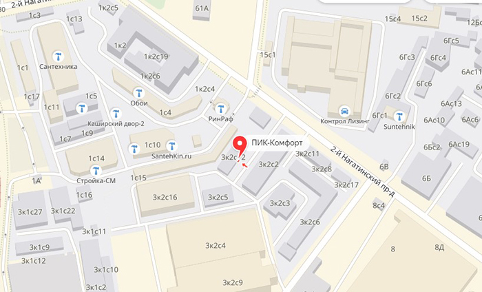 адрес офиса компании ПИК-Комфорт